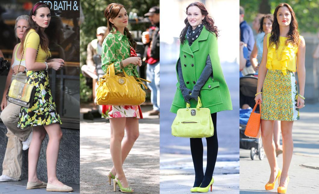 thời trang trong phim Gossip Girls- Blair Waldorf với những trang phục màu sắc