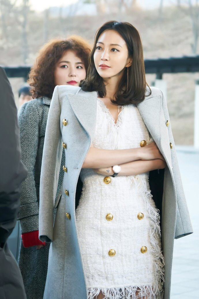 han ye seul blazer đầm vải tweed thời trang trong phim