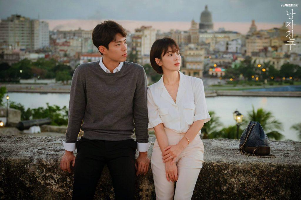 song hye kyo sơmi trắng quần âu thời trang trong phim encounter