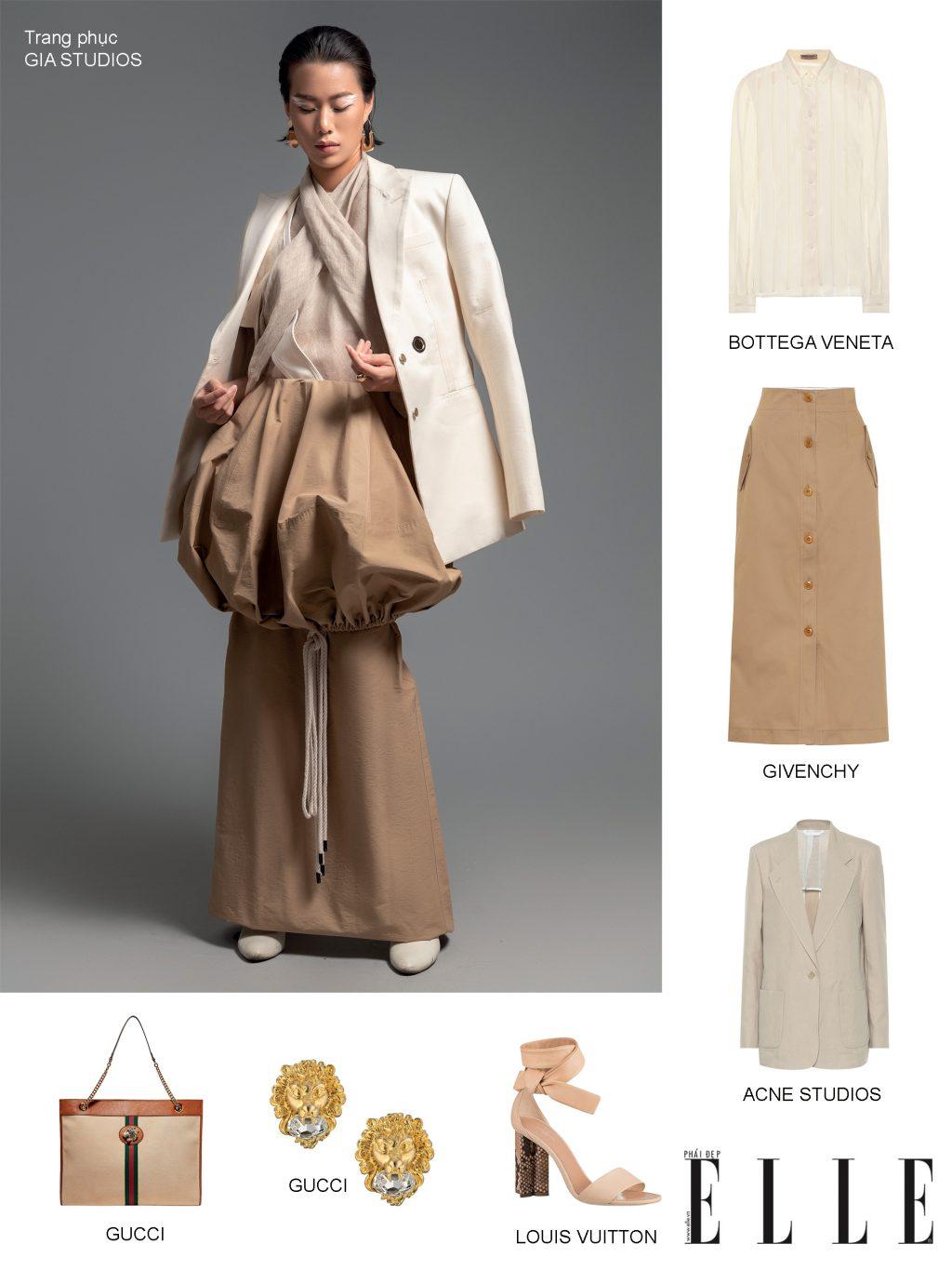 phối trang phục chất liệu linen