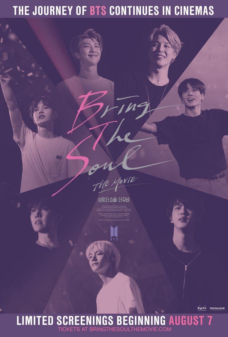 poster phim chiếu rạp BTS tâm hồn nhiệt huyết