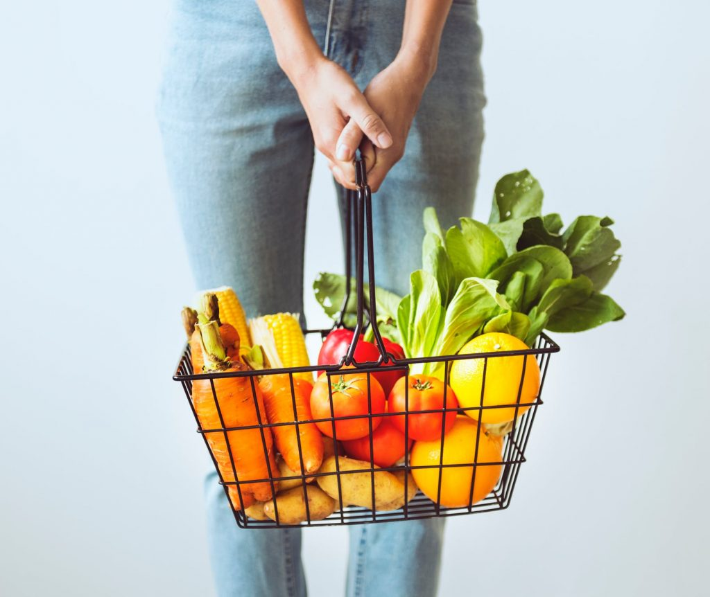giảm cân - giỏ trái cây