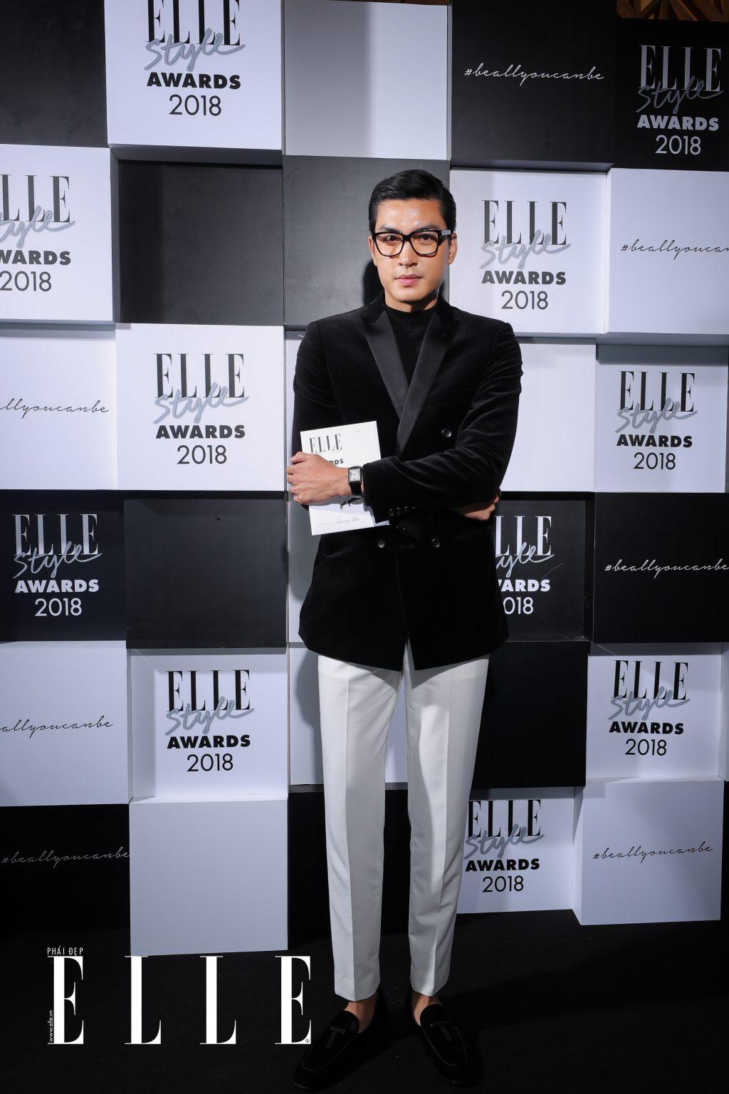 Quang Đại đạt giải tại ELLE Style Awards 2018