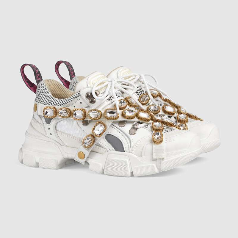 giày sneaker Gucci Fashtrek with removable crystal