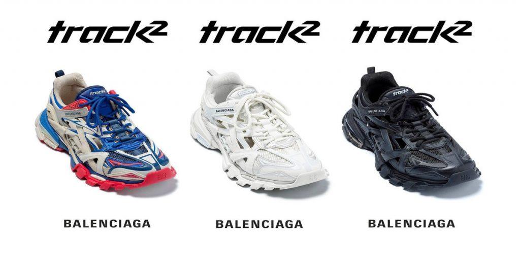 ba mẫu giày Track 2 của Balenciaga