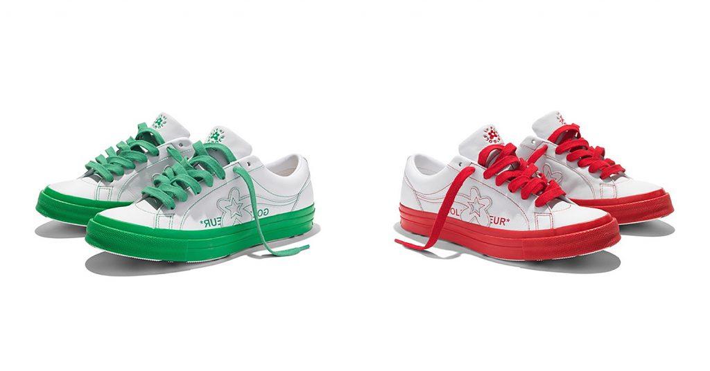 Giày Converse xanh và đỏ