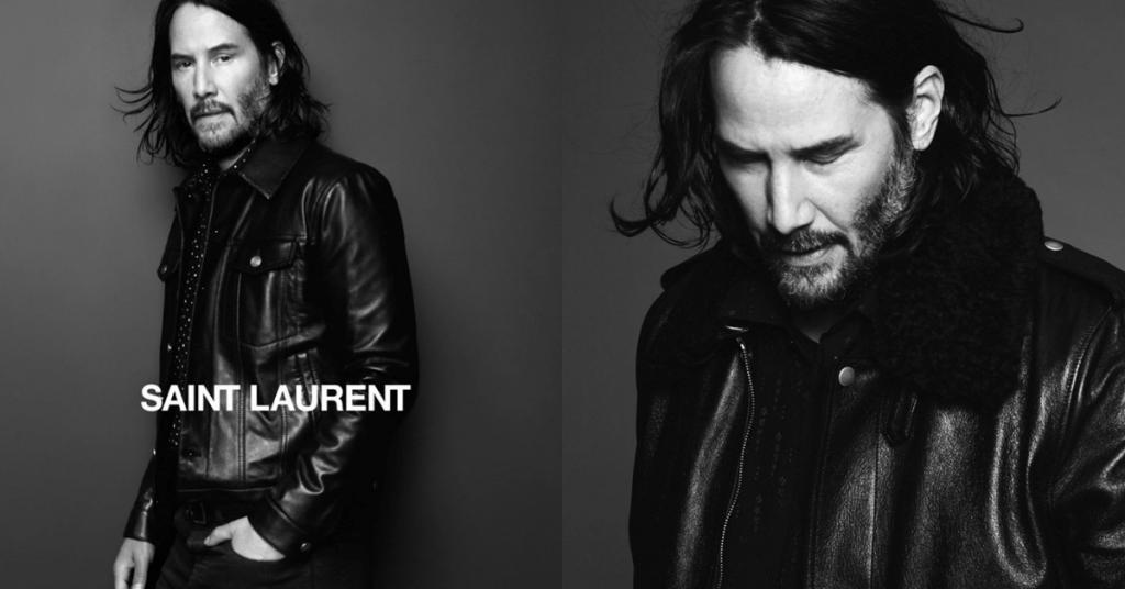 Keanu Reeves là đại diện thương hiệu cho Saint Laurent