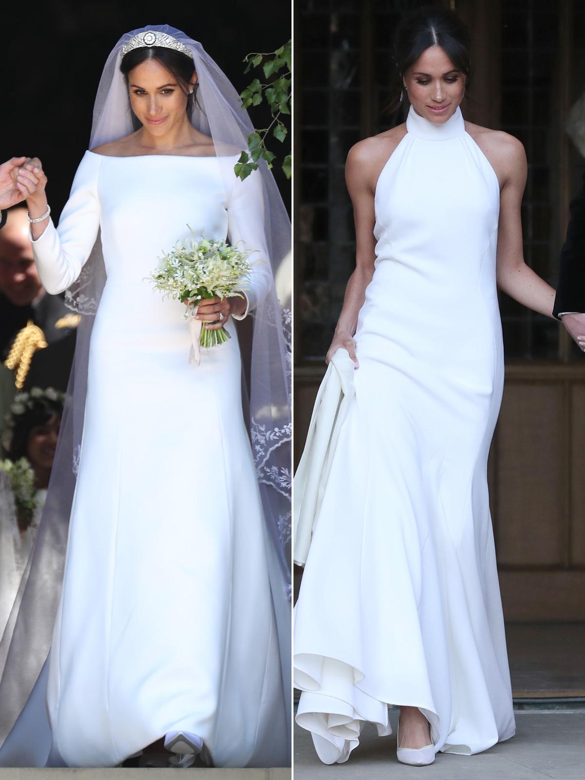 hai đầm cưới của công nương meghan