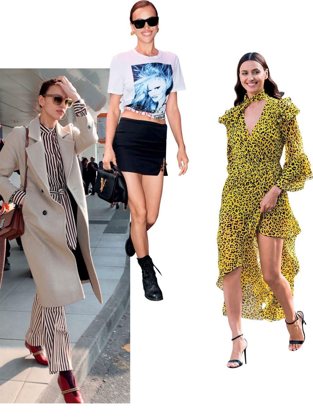 phong cách thời trang tối giản của siêu mẫu irina shayk