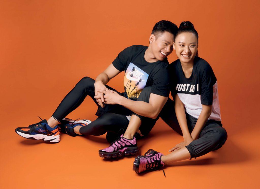 phối đồ phong cách thể thao với giày sneakers nike 2