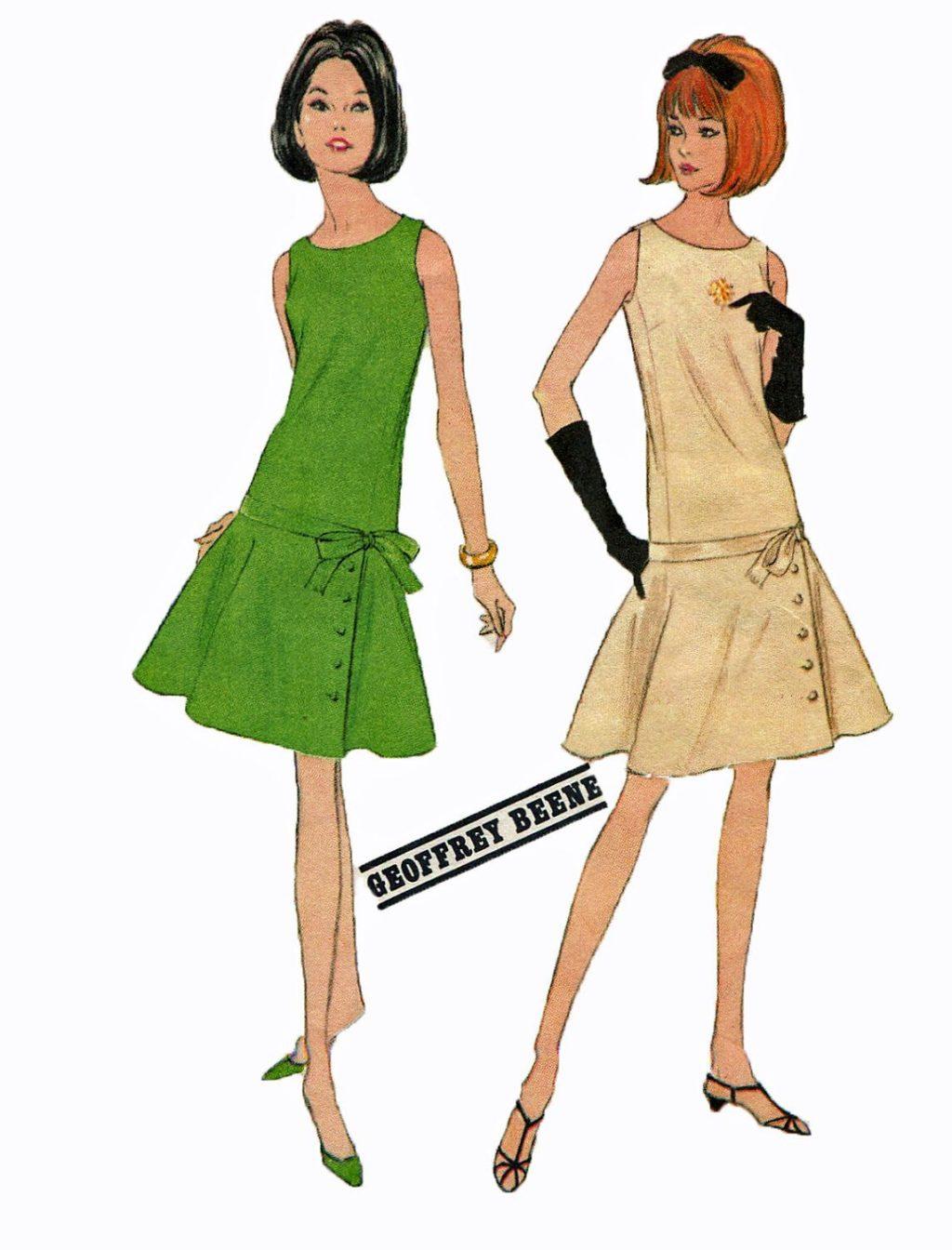 Thiết kế váy hạ eo thập niên 60
