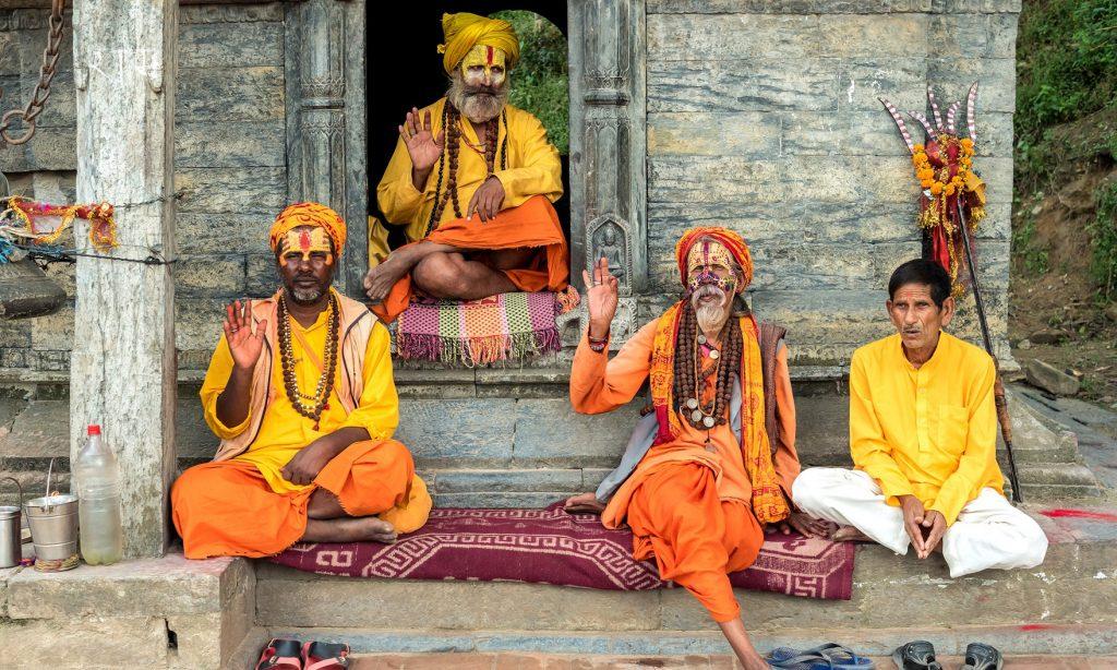 các sadhu tại đền pashupatinath