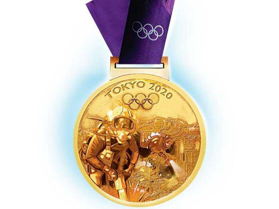 cận cảnh huy chương vàng olympic 2020