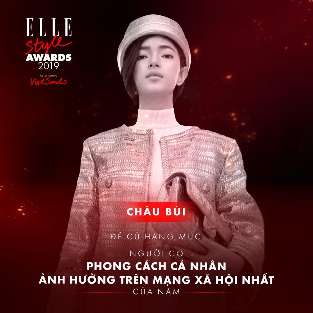 ELLE-STYLE-AWARDS-2019- Châu Bùi-