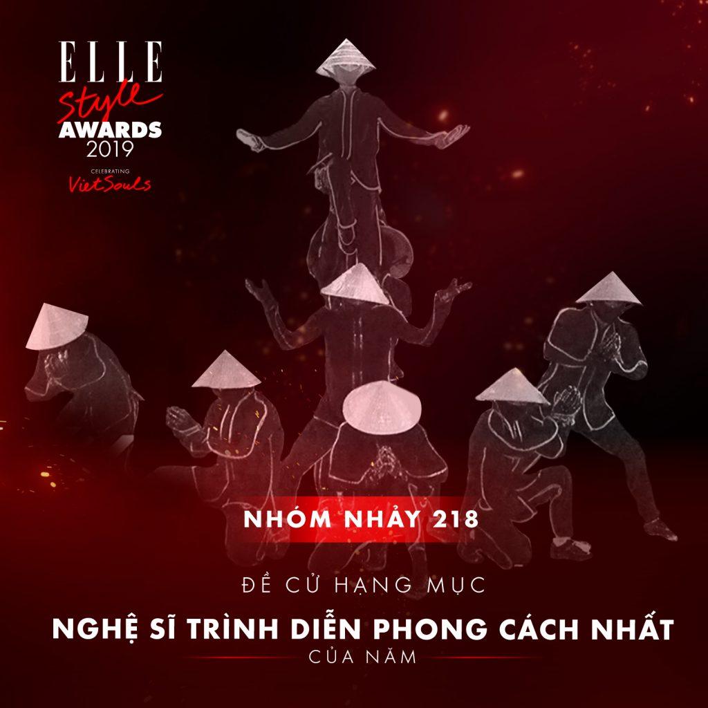 ELLE-STYLE-AWARDS-2019- Nhóm nhảy 218-