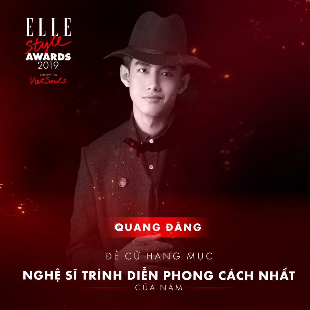 ELLE STYLE AWARDS 2019 Quang Đăng
