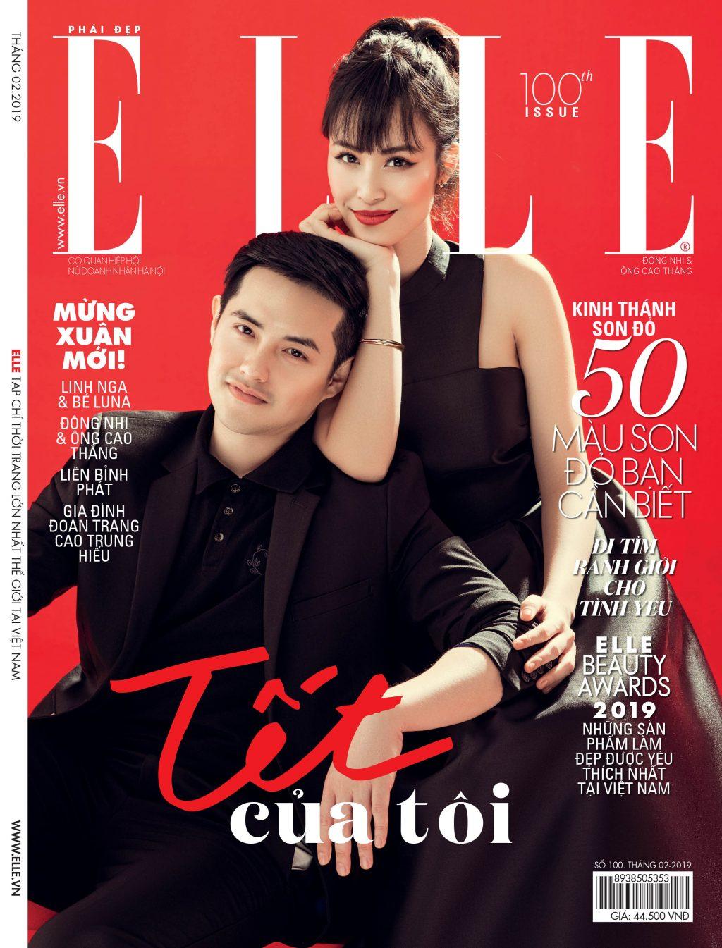 ELLE-STYLE-AWARDS-2019- Trang bìa ELLE Đông Nhi và Ông Cao Thắng-