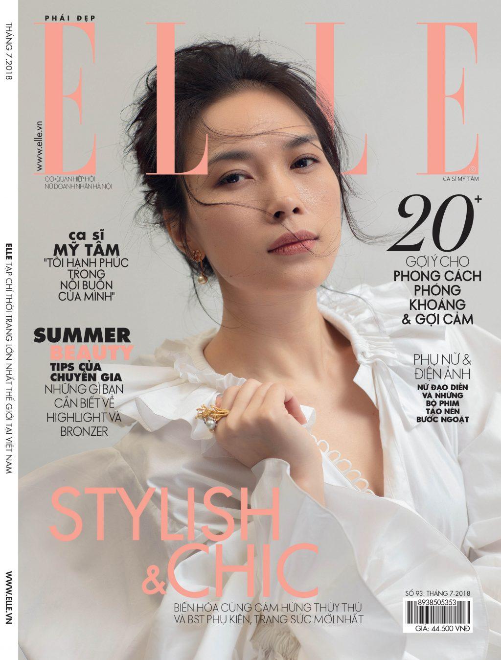 ELLE-STYLE-AWARDS-2019- Trang bìa ELLE Mỹ Tâm-
