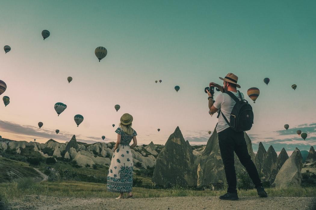 chụp ảnh khinh khí cầu