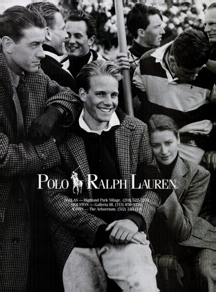 Mẫu quảng cáo những thiết kế đậm chất Preppy của Ralph Lauren.