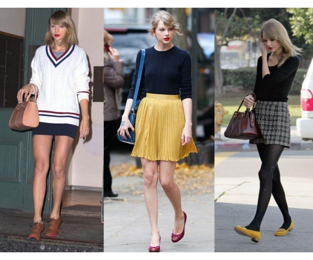 Tổng hợp phong cách Preppy của Taylor Swift.