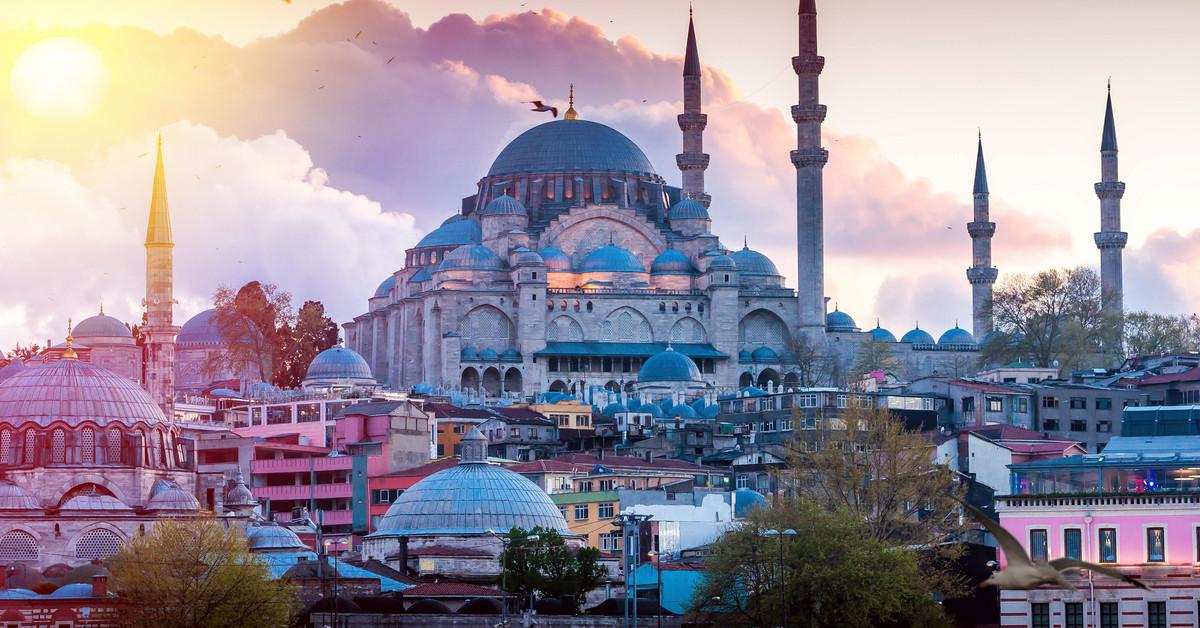hoàng hôn ở istanbul