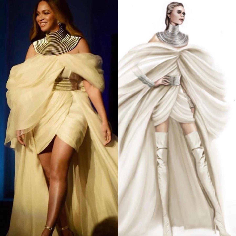 Beyoncé mặc đầm của nhà thiết kế Phương My