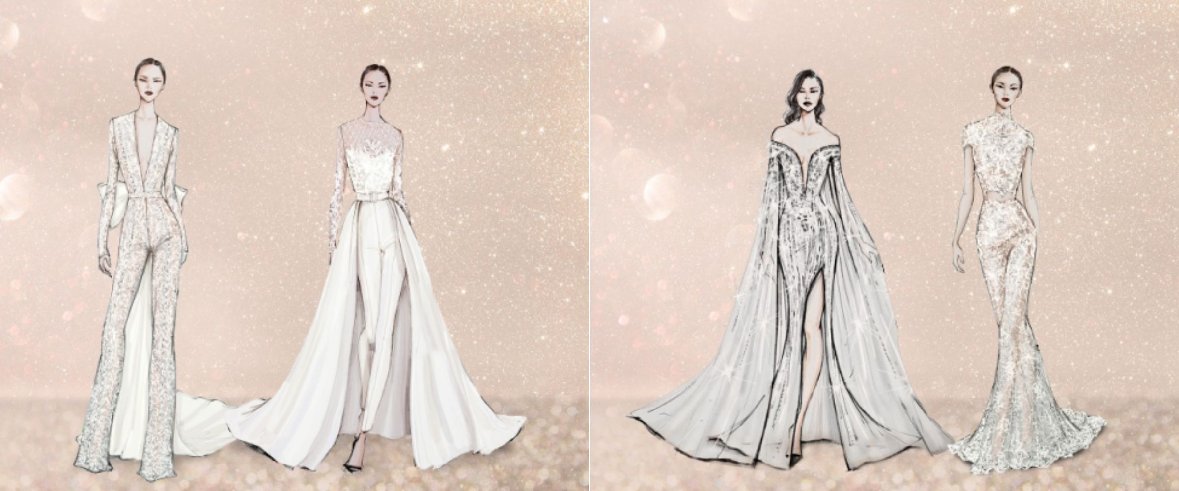 Thiết kế váy cưới pantsuit, jumpsuit, áo choàng và crop top của NTK Lê Thanh Hoà