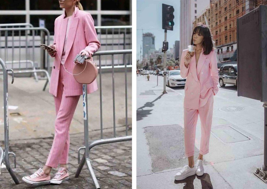 thời trang pastel tông hồng