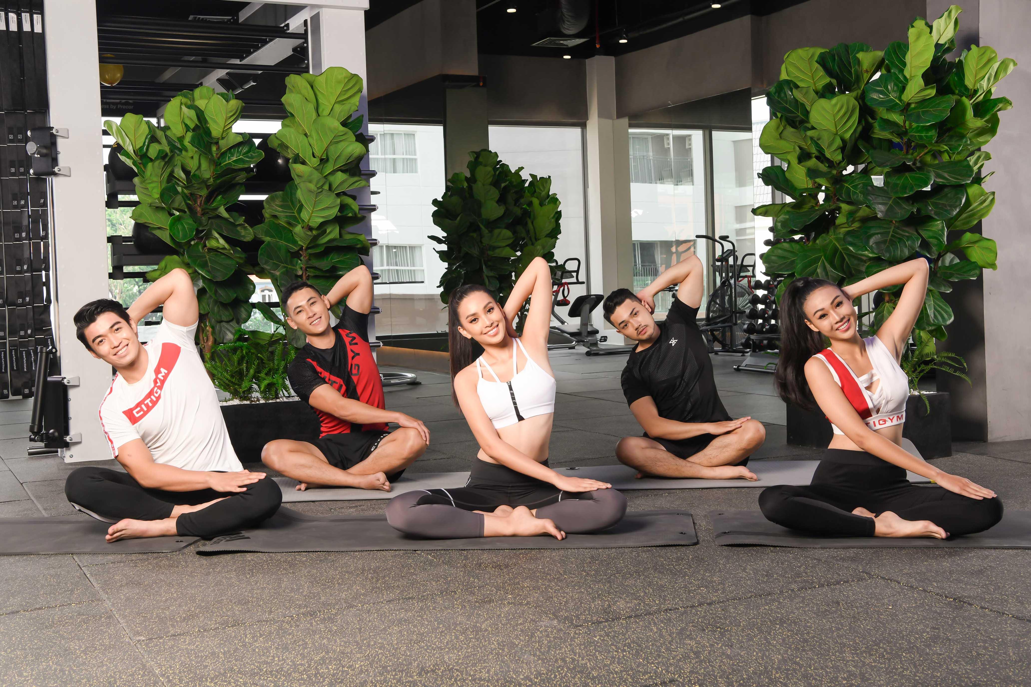 tap gym citigym - hoa hau tieu vy tap yoga - elle vietnam