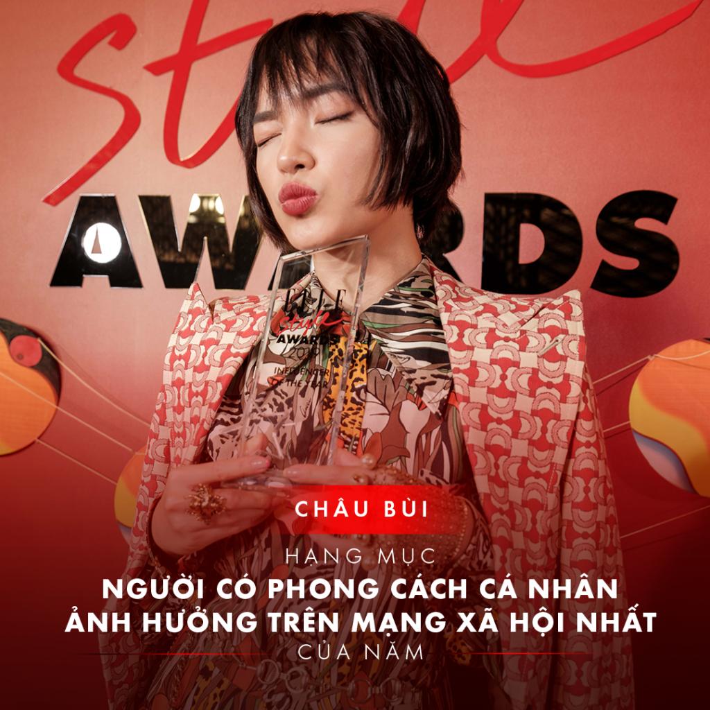 Châu Bùi - Người có phong cách cá nhân ảnh hưởng nhất trên mạng xã hội ELLE Style Awards 2019