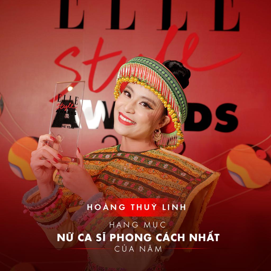 elle style awards 2019 ca sĩ hoàng thùy linh nhận giải