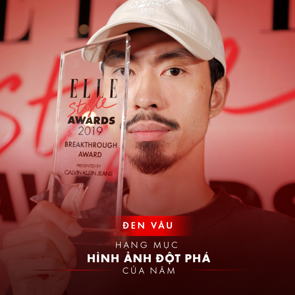 elle style awards 2019 đen vâu nhận giải