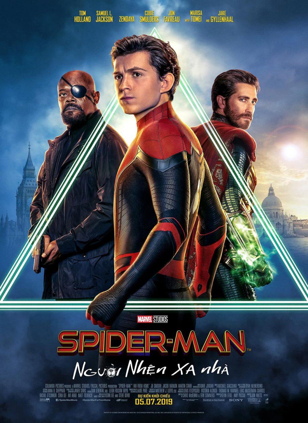 poster phim người nhện xa nhà