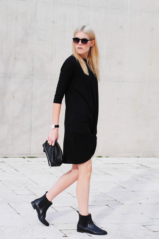 Giày Chelsea Boots đầm đen