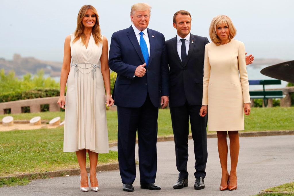 hai gia đình tổng thống mỹ và pháp hội nghị g7