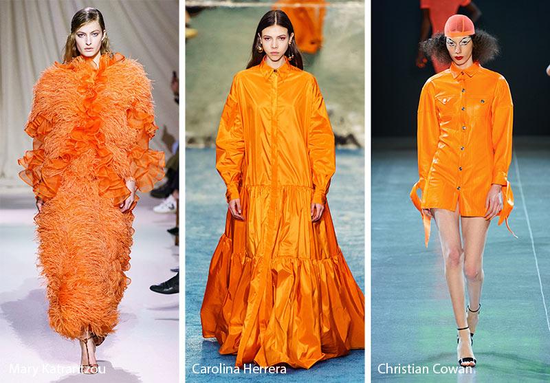 xu hướng màu sắc thu - đông 2019 màu cam