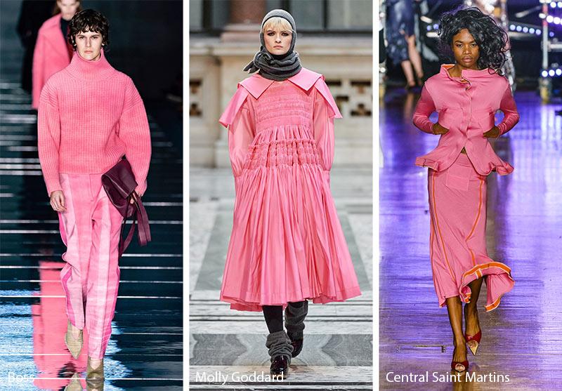 xu hướng màu sắc thu - đông 2019 màu hồng