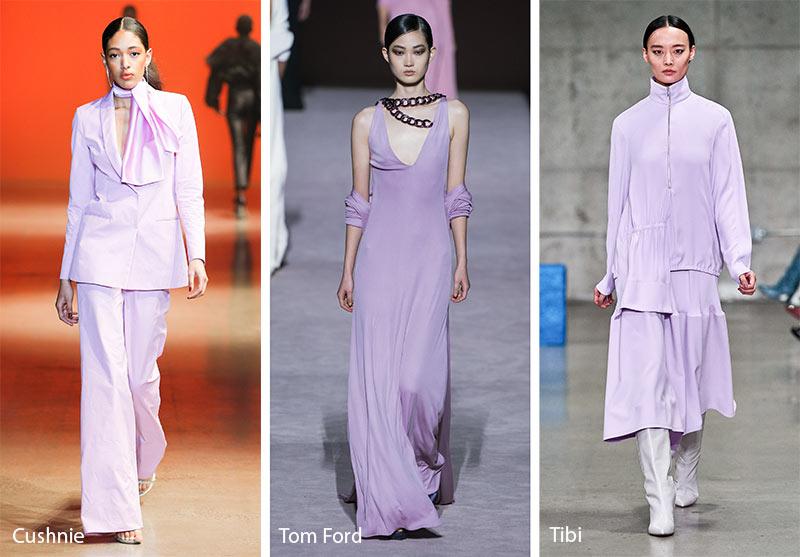 gam màu tím trong xu hướng thời trang 2019