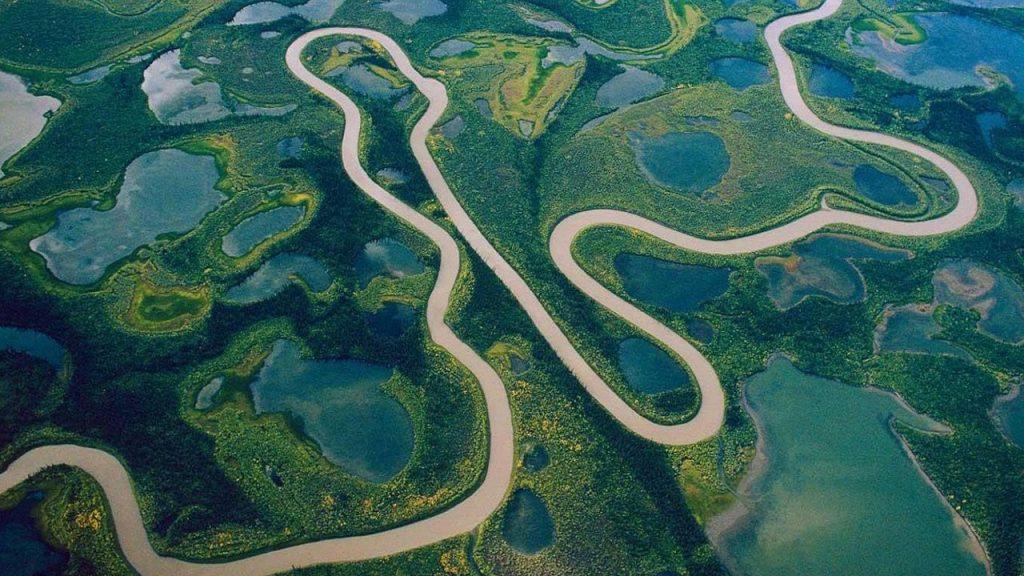sông amazon nhìn từ trên cao