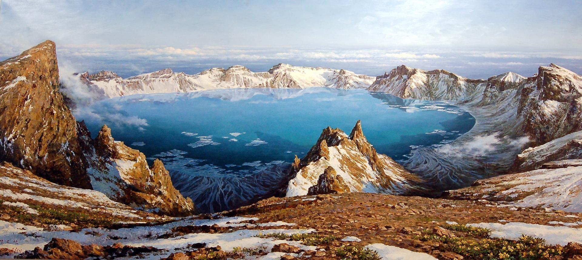 hồ thiên trì vào mùa đông