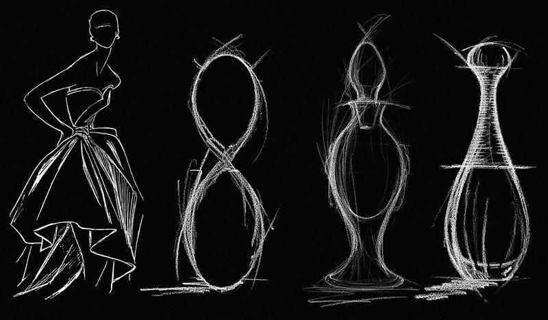 Dior J'adore - thiết kế chai