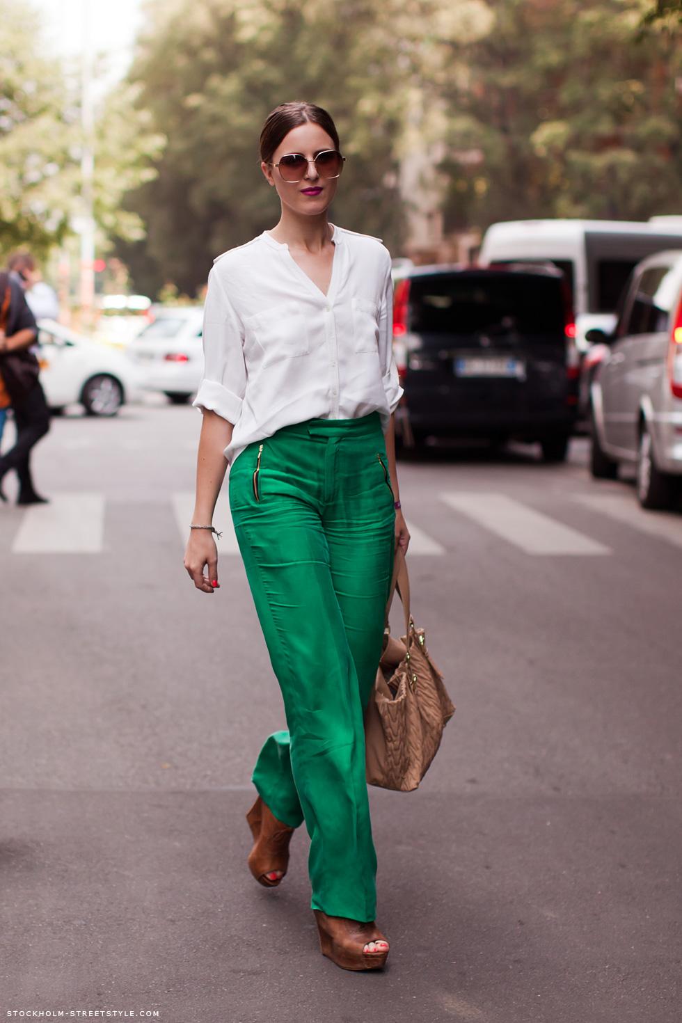 Trang phục màu xanh lá sẽ thay đổi tâm trạng của bạn