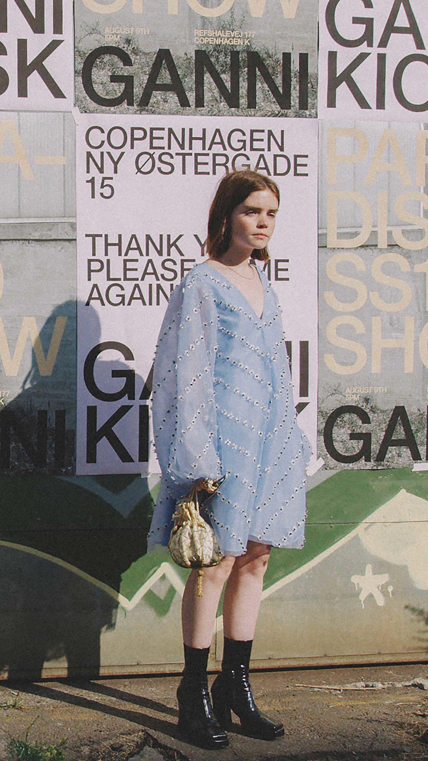 đầm xanh baby họa túi volon cindy
