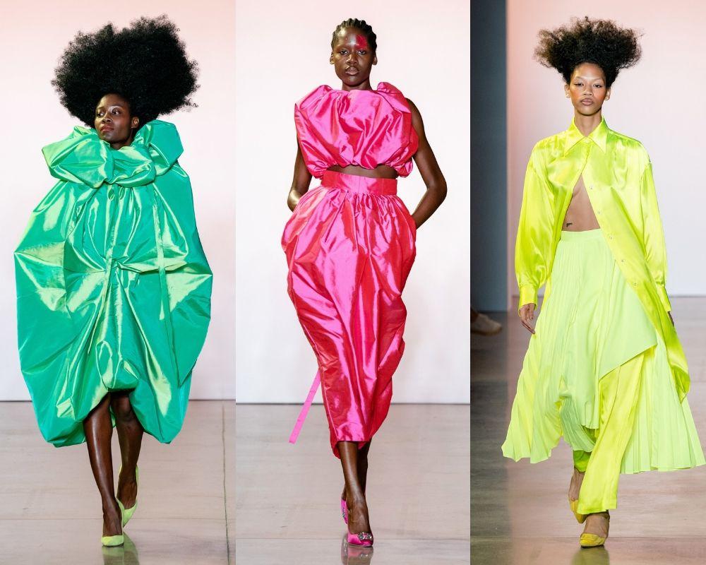 Màu sắc sặc sỡ, phom dáng ấn tượng trong các thiết kế của Christopher John Rogers mùa Xuân - Hè 2020