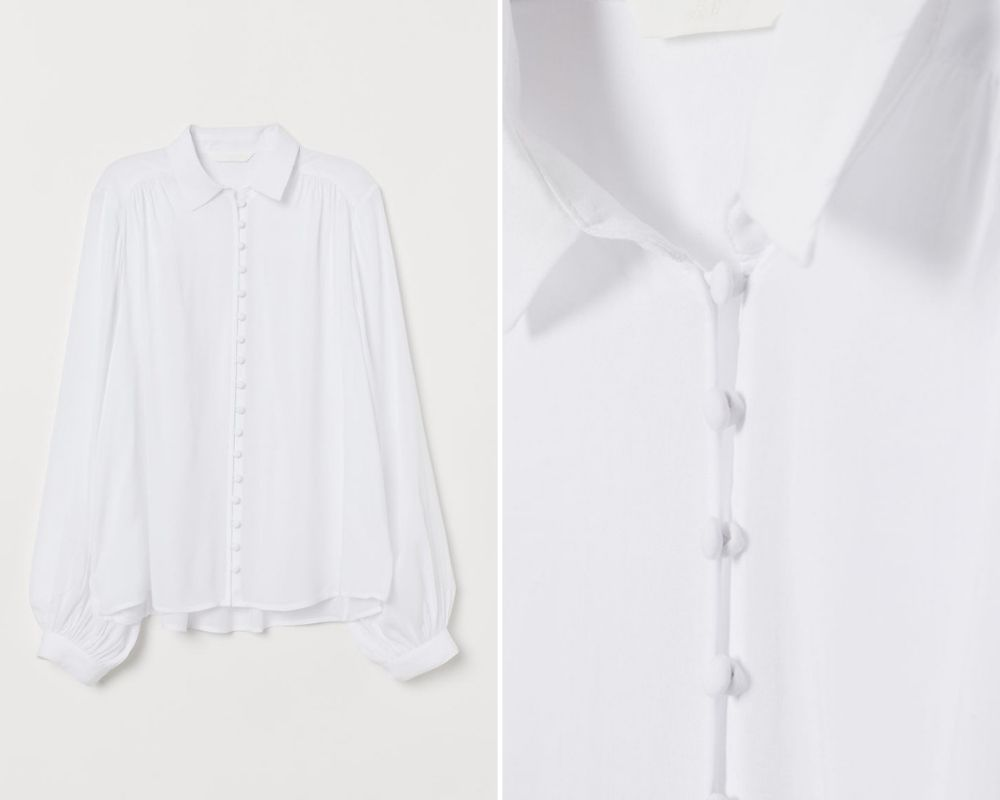 sơmi trắng blouse