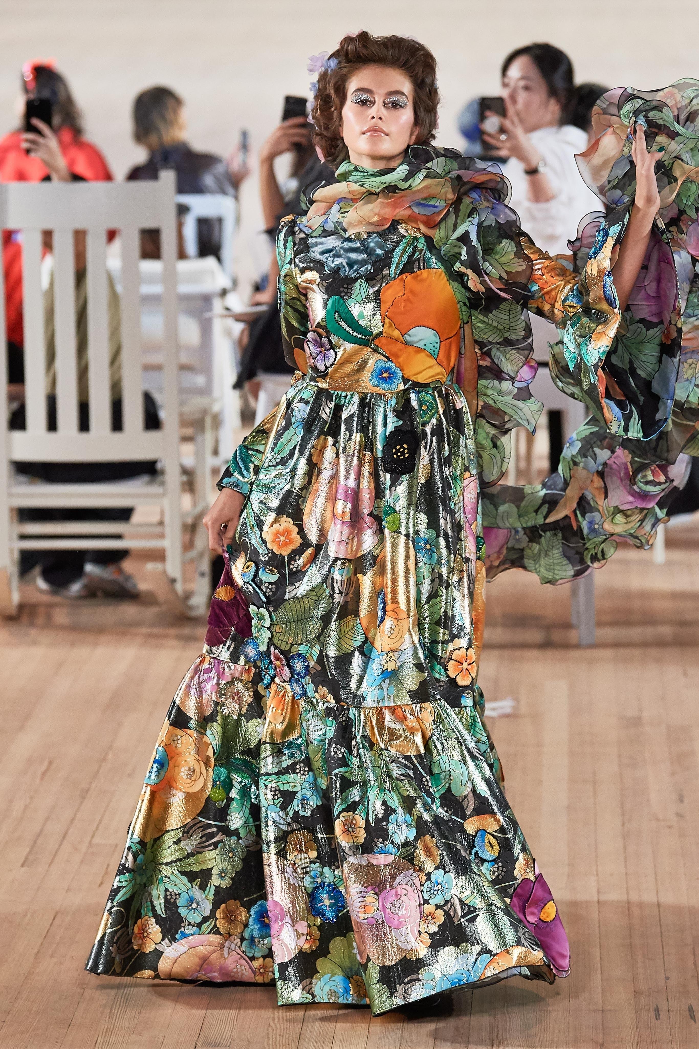 đầm hoa midi marc jacobs xuân hè 2020