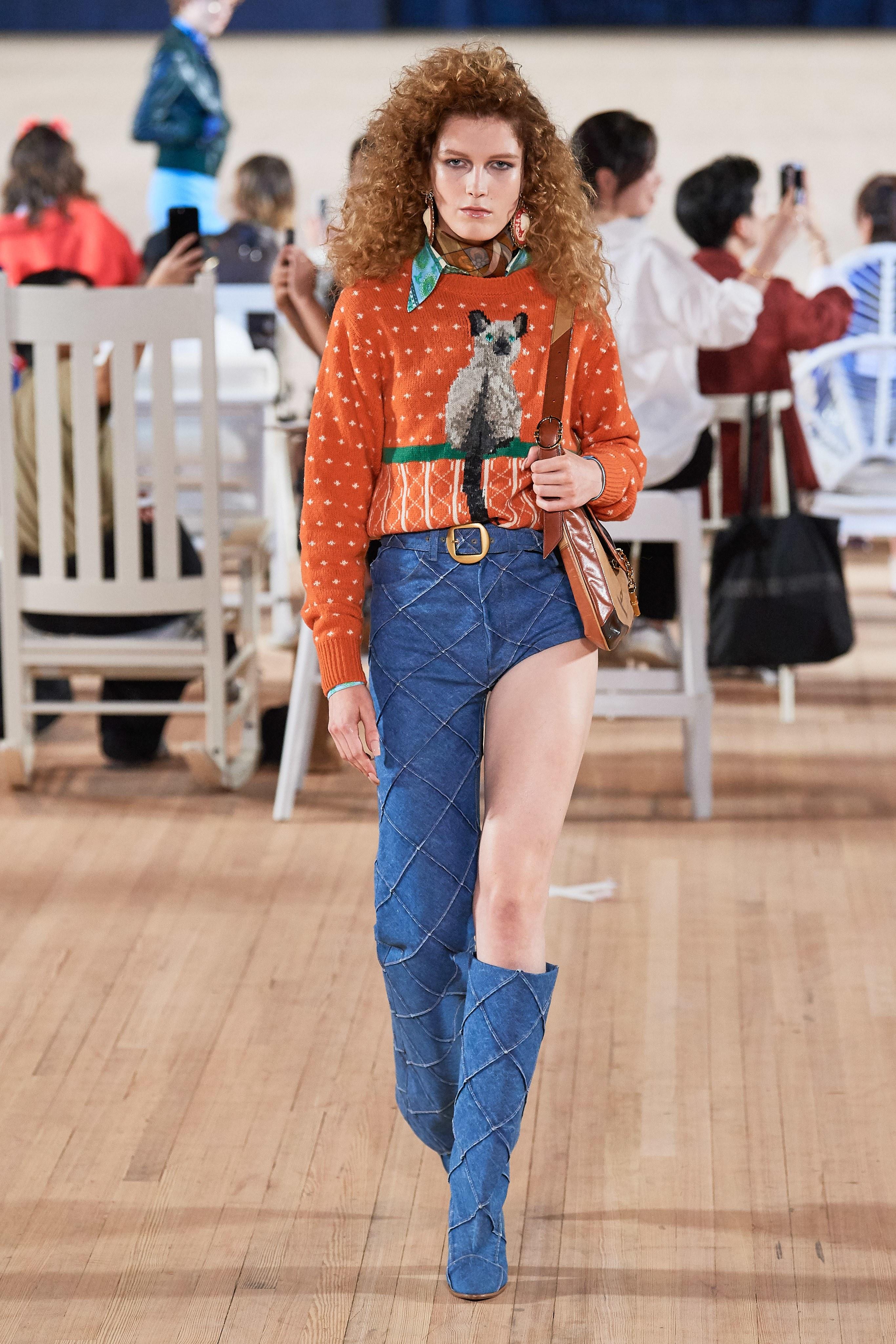 quần jeans cut marc jacobs xuân hè 2020