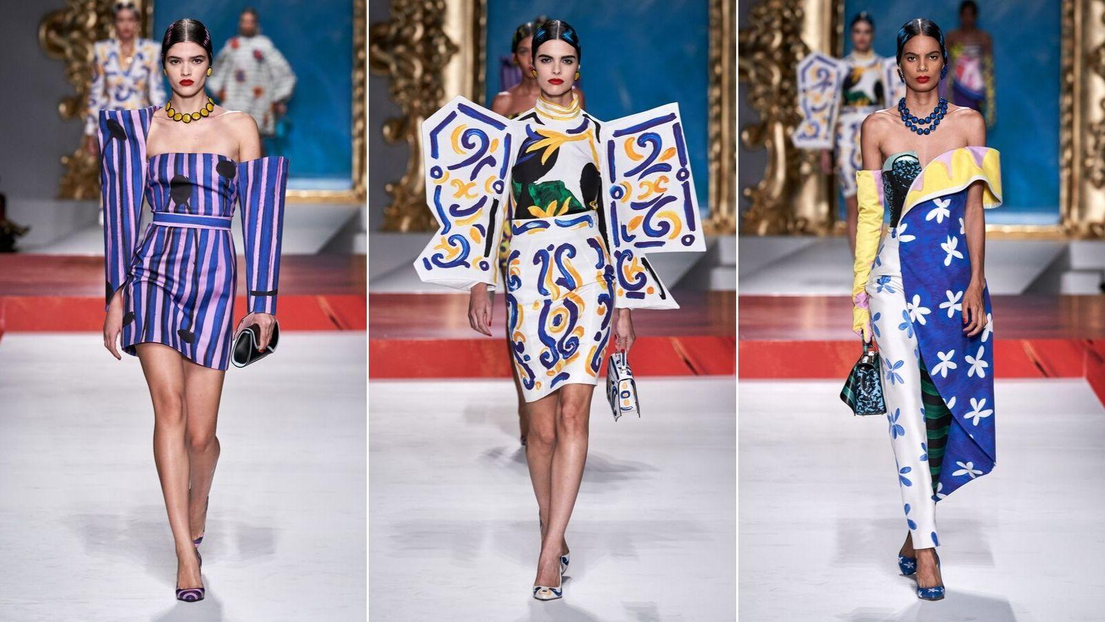 các thiết kế ấn tượng trong bộ sưu tập moschino xuân hè 2020