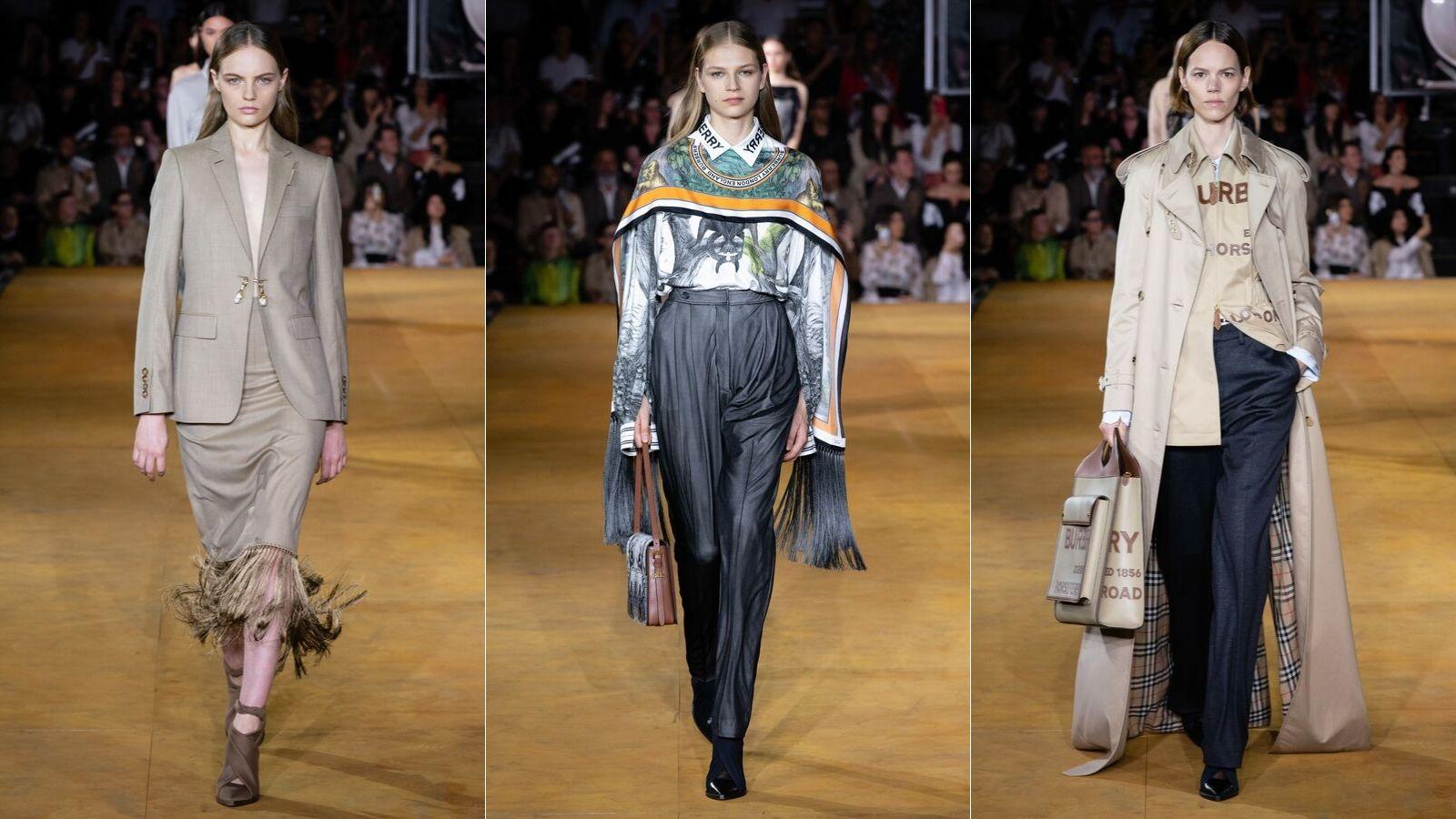 các thiết kế trong bộ sưu tập Burberry Xuân - Hè 2020